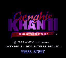 Genghis Khan II: Clan of the Gray Wolf